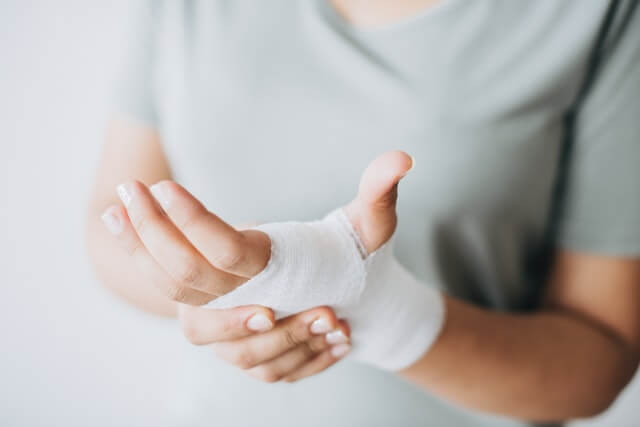 Sport Injuries hand bandage